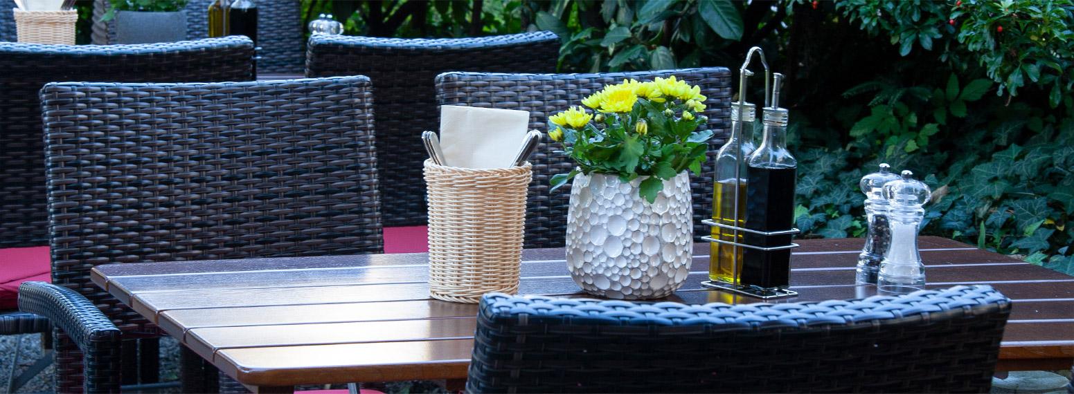 Terrasse griechisches Restaurant