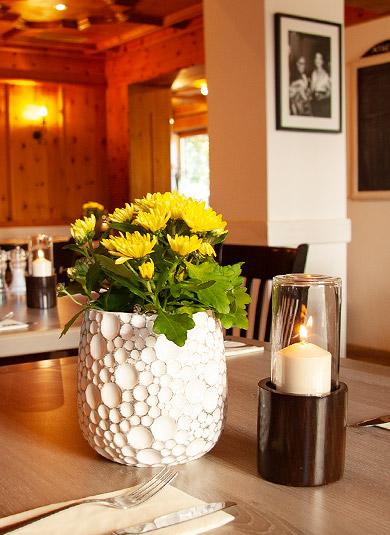 Restaurant Athene Tischdekoration