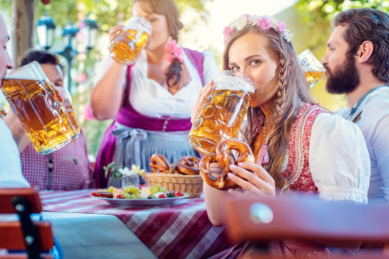 Biergarten nahe Theresienwiese